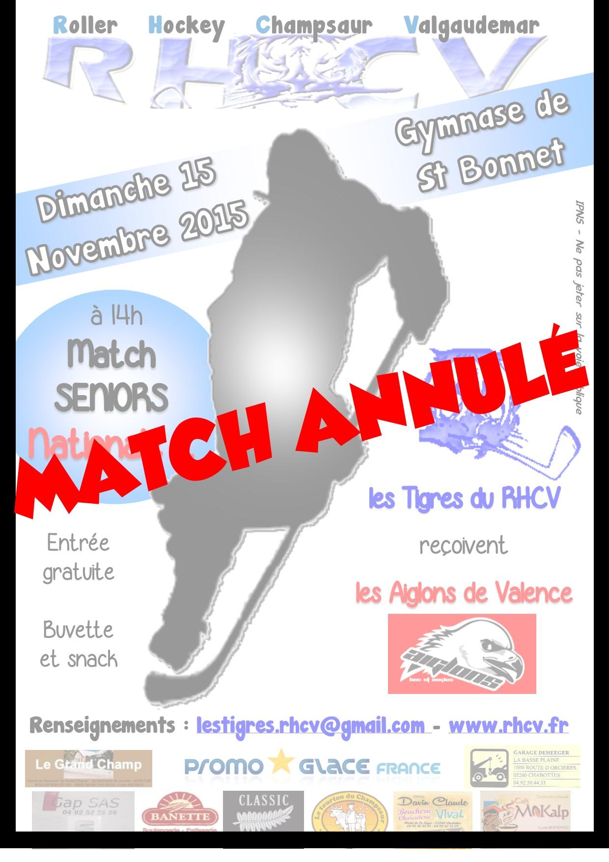 N2 - annulé Valence 15 novembre